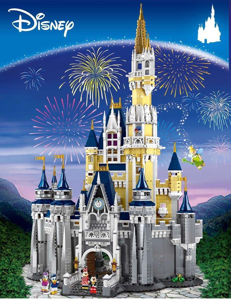 Cinderella Princesa Castelo cidade modelo Building Block Kid brinquedos para as crianças presente 4080Pcs Compatível com Legoinglys 71040