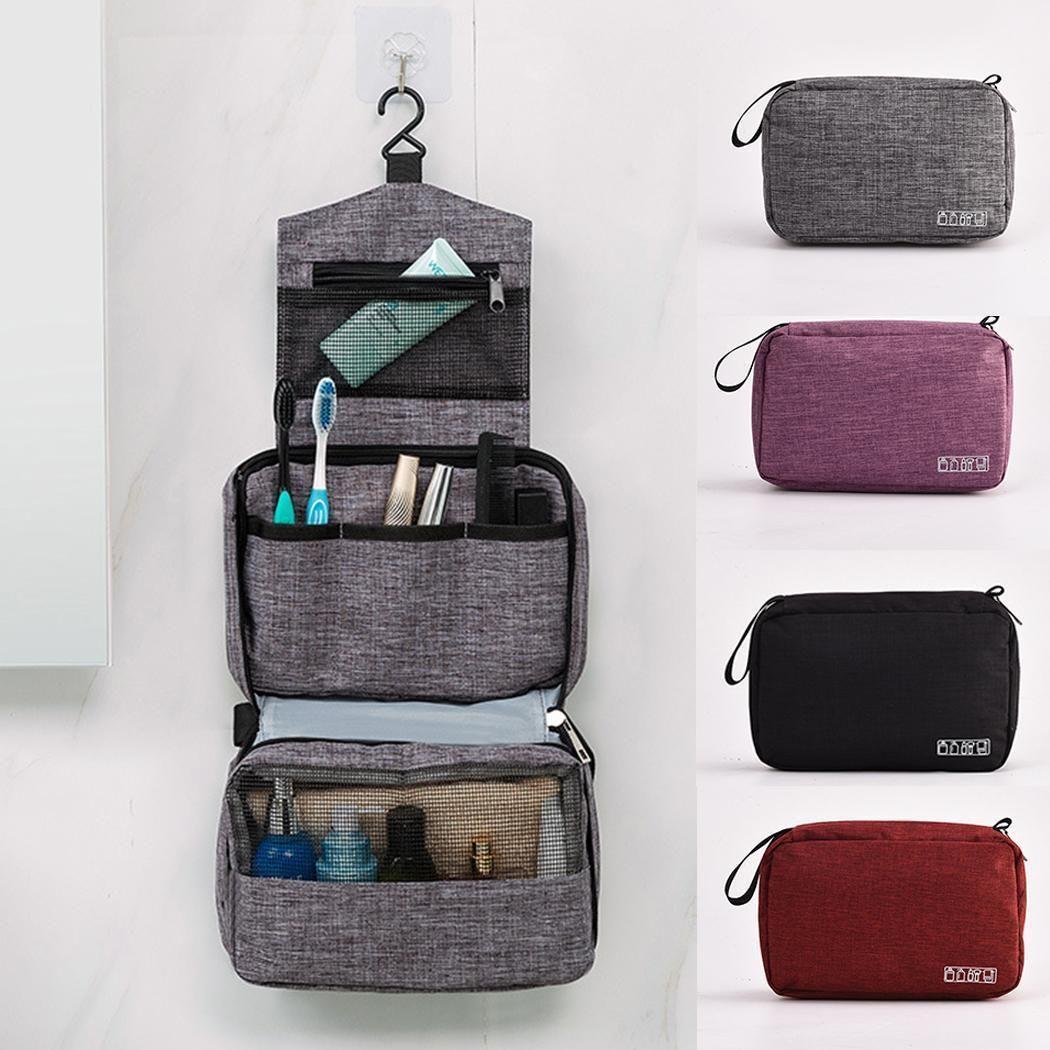 Reisehangable Wash Bag große Kapazitäts-kosmetischer Beutel Zipper Rechteck Makeup-Pack Körperpflege Speicherkultur Organizer