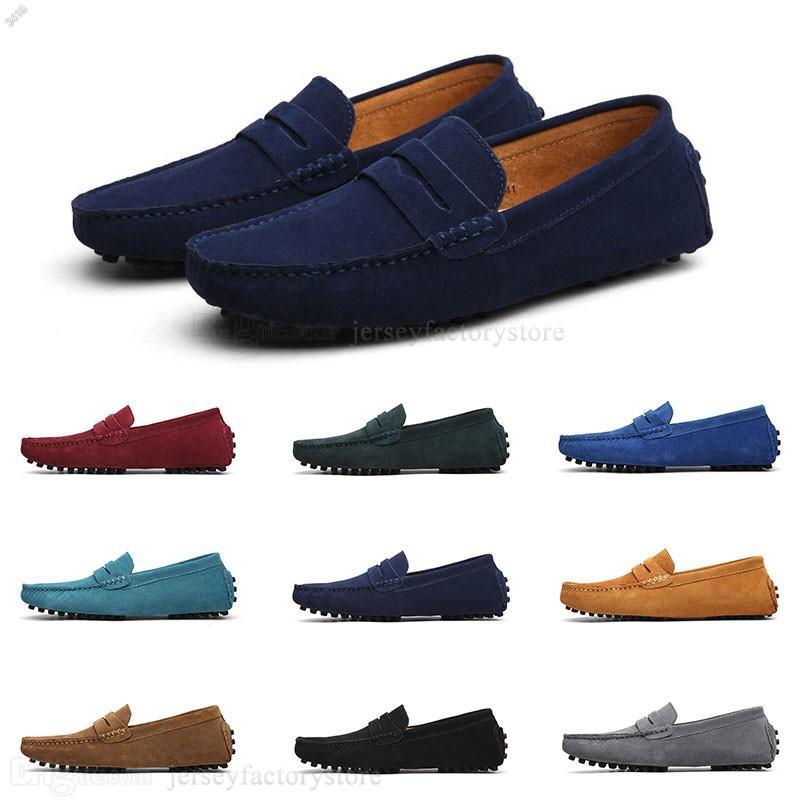 2020 de gran tamaño 38-49 de los zapatos ocasionales británicos de cuero para hombre de los zapatos de los nuevos hombres chanclos Nueva caliente manera libre del envío J # 00473