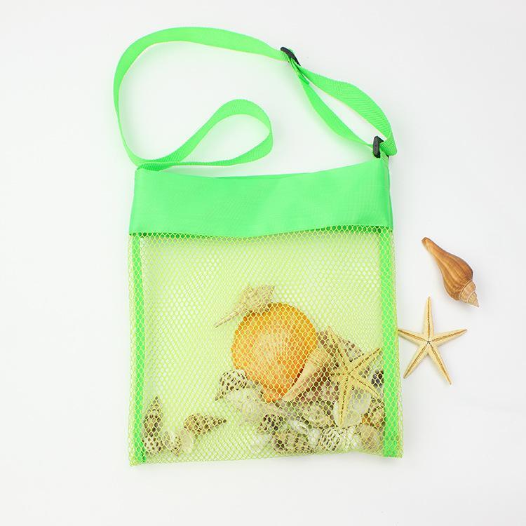 Sommer Sand Speichernetztasche für Kinder Kinder Strand Shell Muschel weg Spielzeug Net Organizer-Taschen-Tasche tragbare verstellbare Schultertasche XX