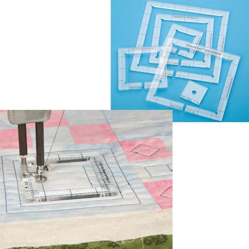Acrilico patchwork quilting Template righello Piazza Longarm Per regolo o cuciture-in-the-fosso piede # SSSQ-tre millimetri # SSSQ-5,8 millimetri