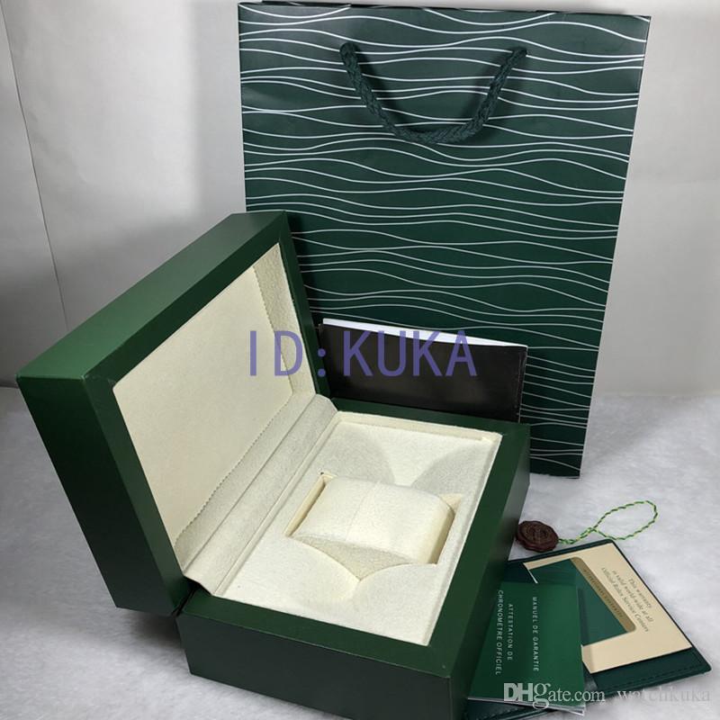 2020 caja de la caja del reloj para hombre de madera caja original Inner Outer Relojes Cajas Papeles de regalo Bolsa de pulsera relojes de caja de la caja