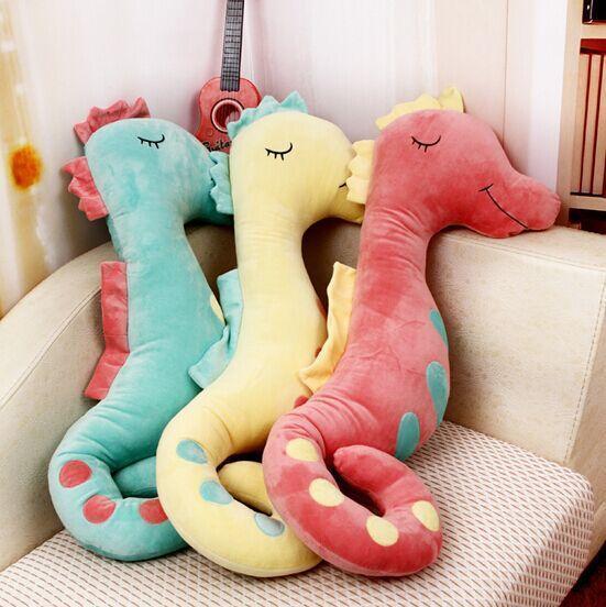 seahorse plush toy Almofada travesseiro 50 cm terno para crianças do bebê ou adulto