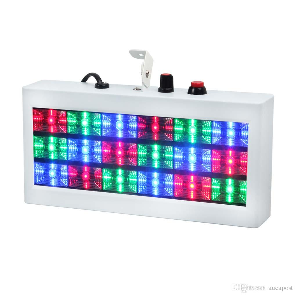 AUCD Mini 18 LED Sound Actived Strobe Light RGB Color Flash Light Stroboscope Disco for Club Party Stage Lighting Effect XMT-S18