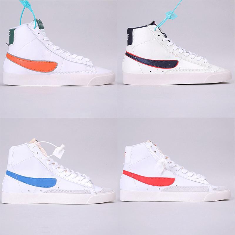 2020 W Blazer MID 77 Vintage Biz Süet koşu ayakkabıları Mens Vntg Kaykay Erkekler Kadınlar Beyaz Sarı Tasarımcı Spor Sneakers boyutu 36-45 eğitici