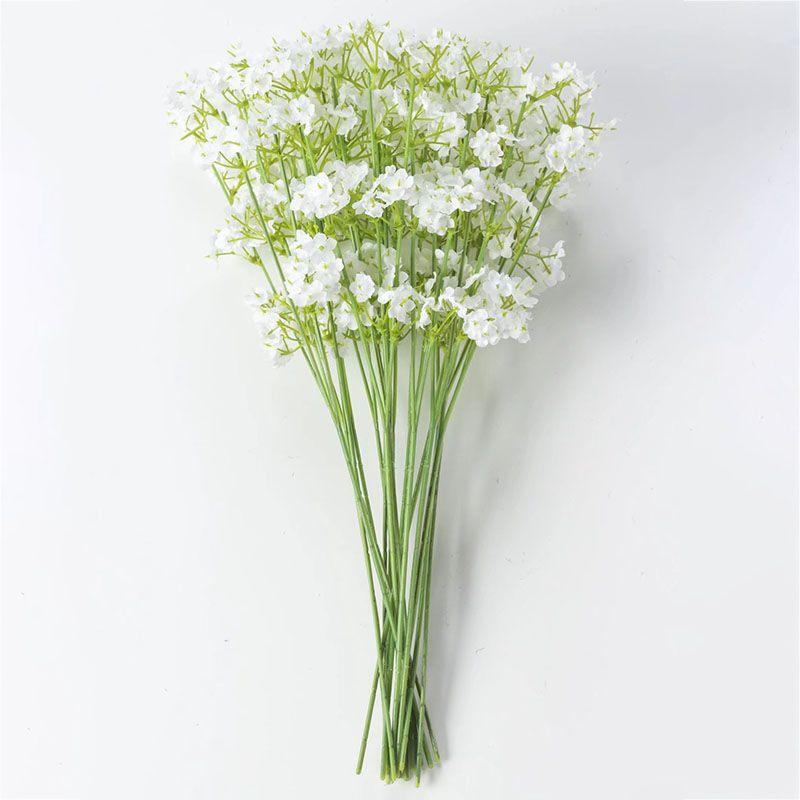 Flores artificiais 2 bifurcados estrelas Gypsophila Falso Planta De Flor De Seda Casa Festa de Casamento Decoração Suprimentos flor De Seda WX9-1460