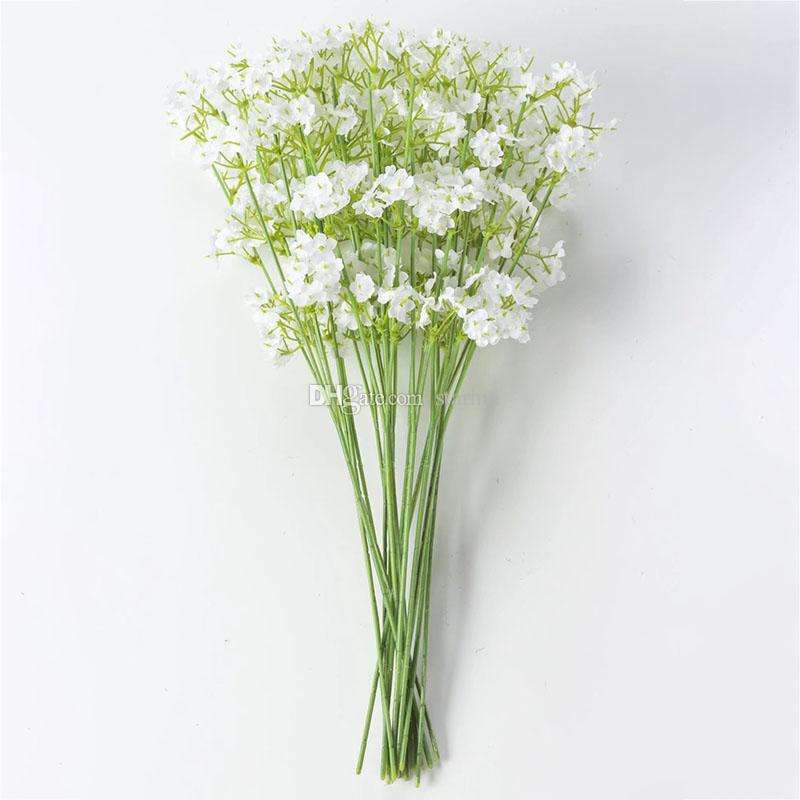 Künstliche Blumen 2 Gabeln Sterne Gypsophila gefälschte Seidenblume Pflanze Startseite Hochzeit Dekoration Lieferungen Seidenblume WX9-1460