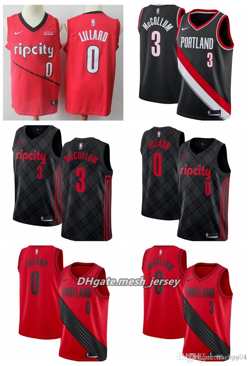 newest collection 6ec49 34003 2019 Men Portland Trail Basketball Blazer Jersey 0 Damian Lillard 3 C.J.  McCollum Stitched Jerseys City Edition From Shirtfamily02, &Price; | ...