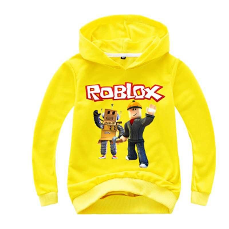 2020 New Kids Roblox Pull jour Nez rouge Sweat à capuche Garçons Filles Automne Coton T-shirt mode Cartoon Hauts 2-14y ROX1