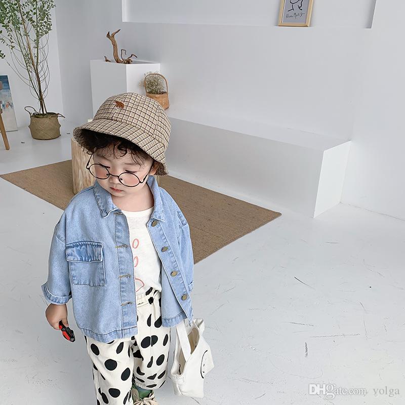 جديد أطفال جاكيتات الأزياء الكورية جودة عالية الدنيم سترة لفتاة الفتيان الملابس 2020 الربيع الأطفال قميص 2 3 4 5 6 سنوات