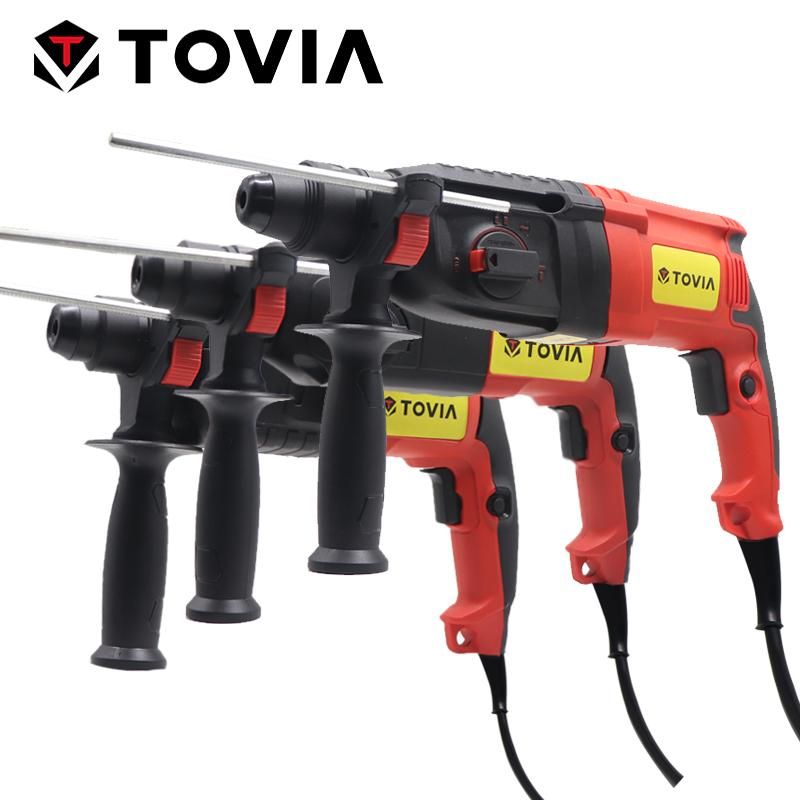 TOVIA Electric Rotary Hammer 850W AC Four Function Electric Drill SDS Plus Power Tool