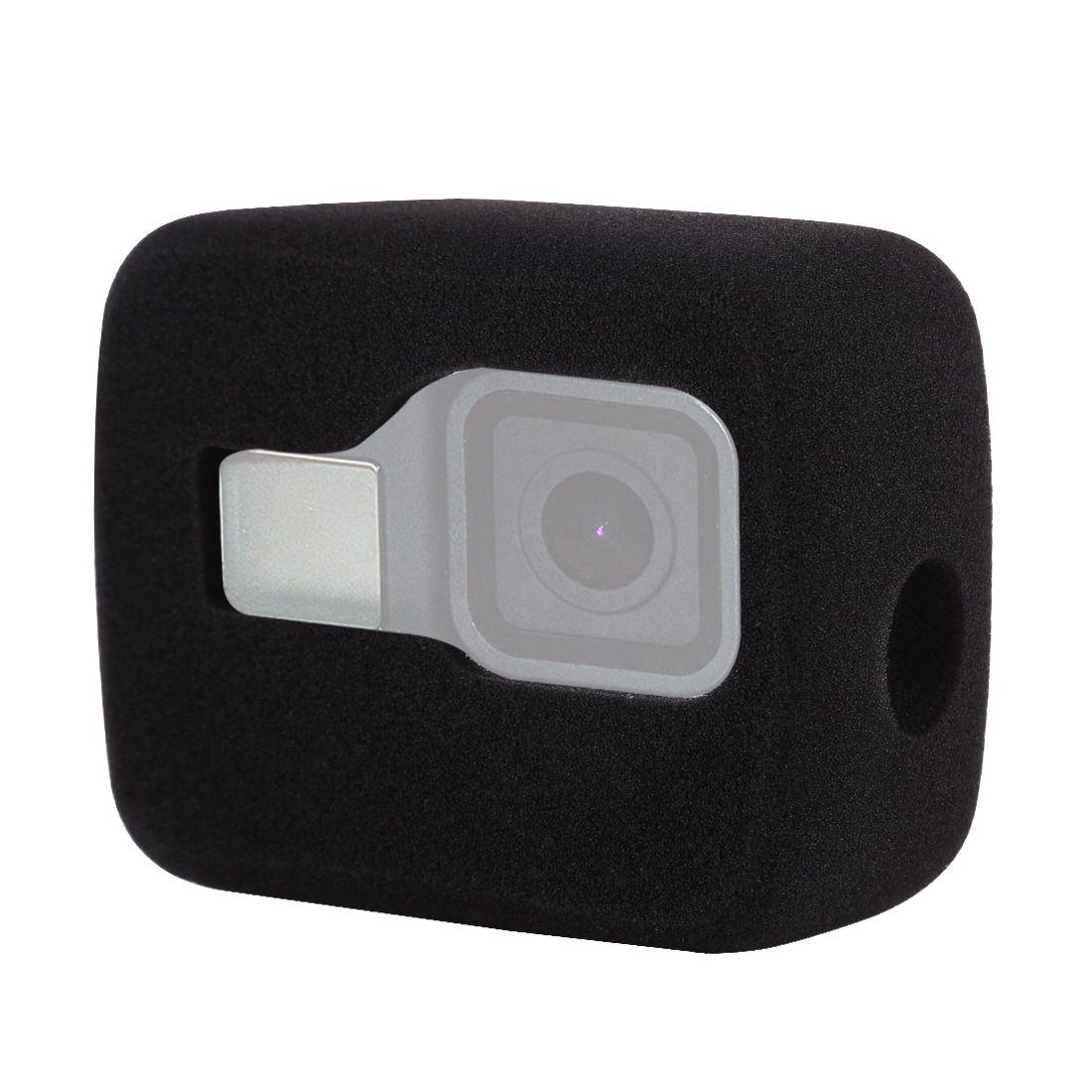 Windslayer لمن GoPro البطل 8 الأسود الزجاج الأمامي الرياح رغوة غطاء للحد من الضوضاء الرياح صامد للريح لحالة العودة برو 8 ملحقات كاميرا