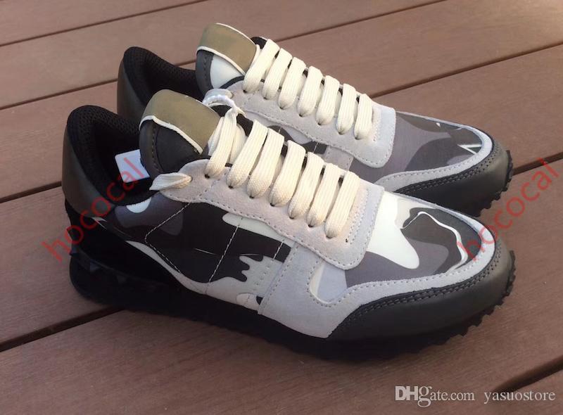 Baskılı hococal Deri Hook ve Hoop Spor Ayakkabılar ile Toptan Spor ayakkabılar İkonik Damier Grafit Tuval Erkekler Lüks DesigneShoes Günlük Ayakkabılar
