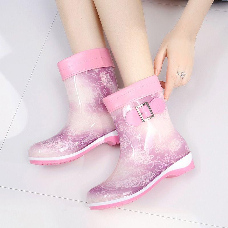 Горячие продажи- мило дождь сапоги зима теплая половины ботинки вскользь большого размер 36-41 водонепроницаемых желе резиновых ботинок скользят по дамам женской обуви работы