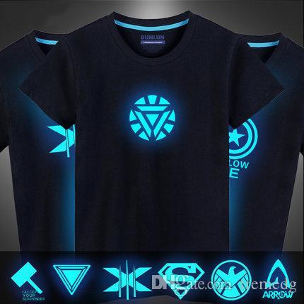 Iron Man Iron allievo dell'uomo dei capelli del cotone scudo notturno Bureau Avenger alleanza uomo capitano T-shirt manica corta giovani americani di sesso maschile