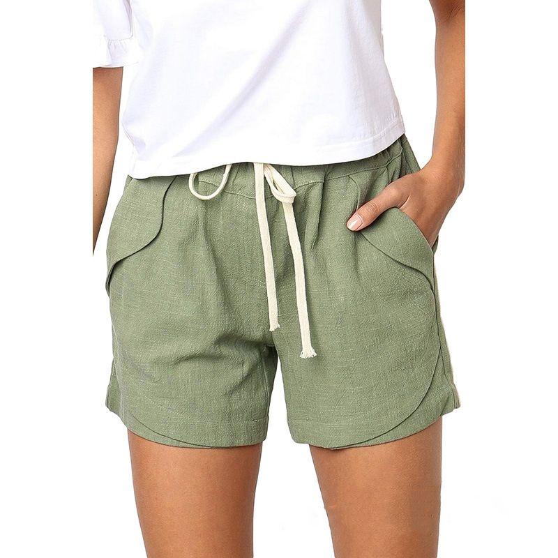 Быстрое высыхание Светоотражающий Пляжные брюки Фитнес Обучение Спортивные женские шорты Solid Color Сыпучие Активный подростковая одежда Летняя # 686