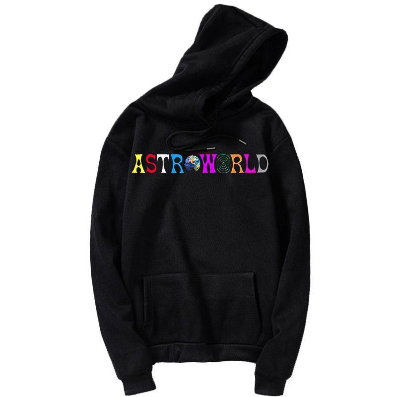 Travis Scotts AstroWorld 2019 Imprimir con capucha los hombres y las mujeres del suéter con capucha de los hombres de gran tamaño de Harajuku estilo de Hip Hop