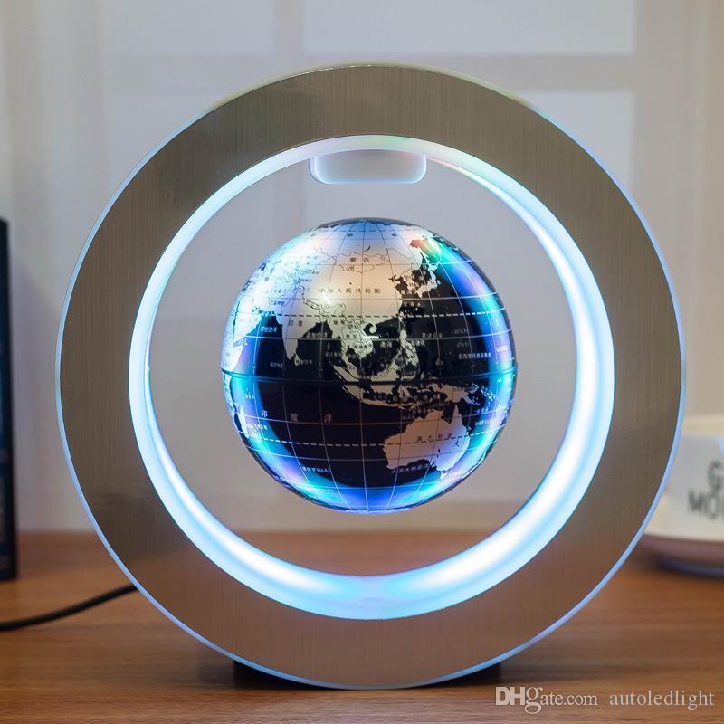 LED Magnetic World Globe Magnetic Floating globe LED Levitating Rotating Tellurion World map school office supply