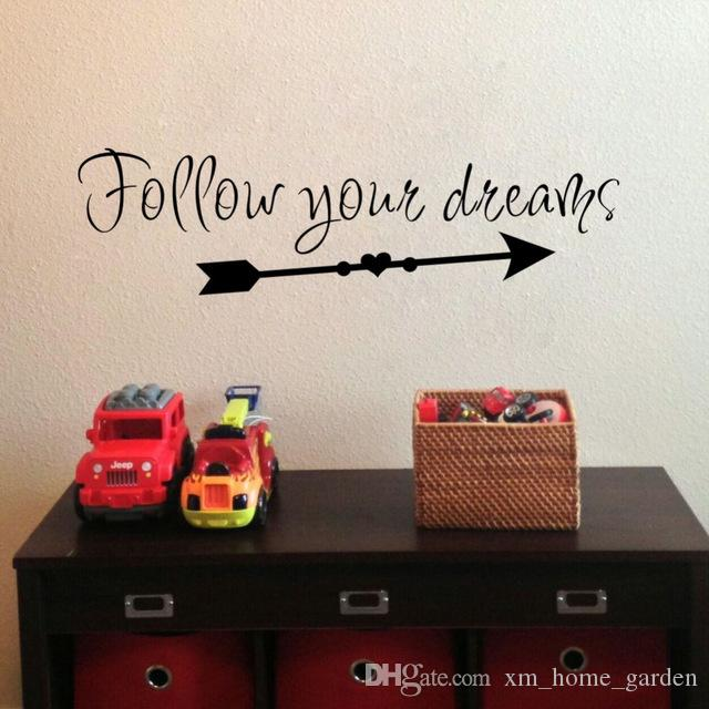 inspirational quotes wall art bedroom decorative stickers home