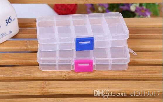 10 Fachkunststoffaufbewahrungsbox für Schmuckohrring-Werkzeug-Container-Organizer,