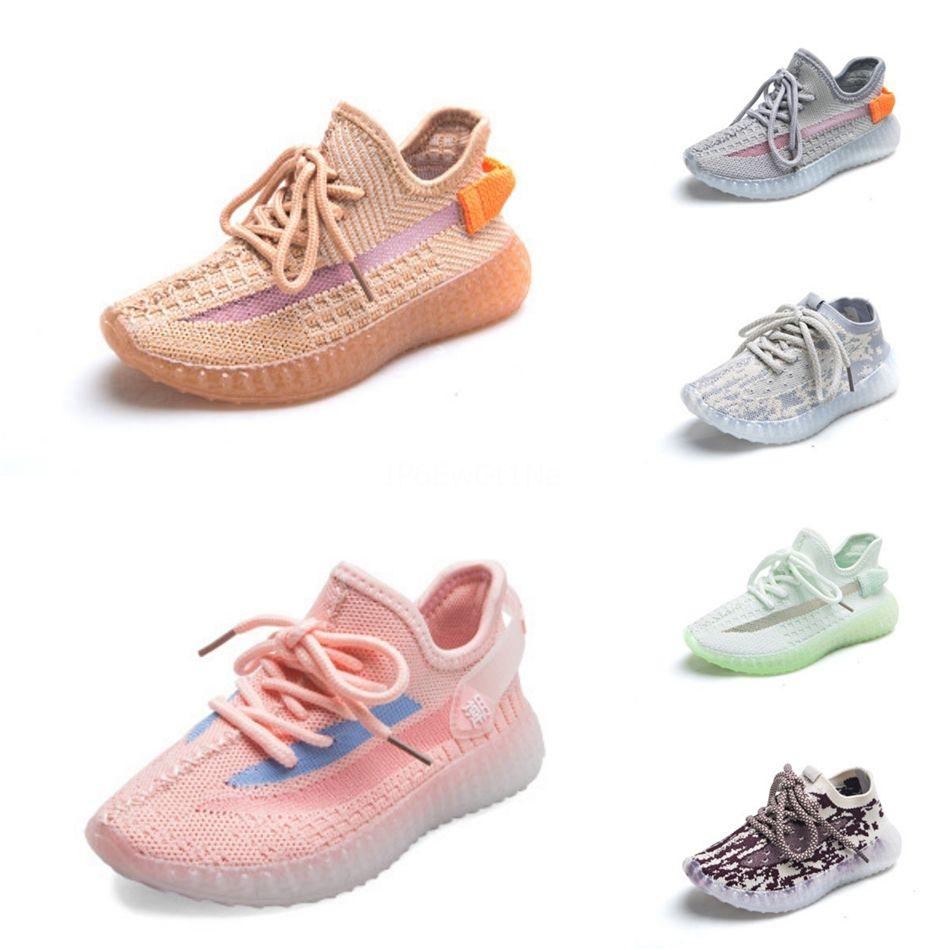 2020 Baby-Kinderschuhe Lehm V2 Luxus Laufschuhe Static Reflective-Jungen-Mädchen Kanye West Beluga 35 Kleinkind-Trainer Kinder Sportschuhe # 34