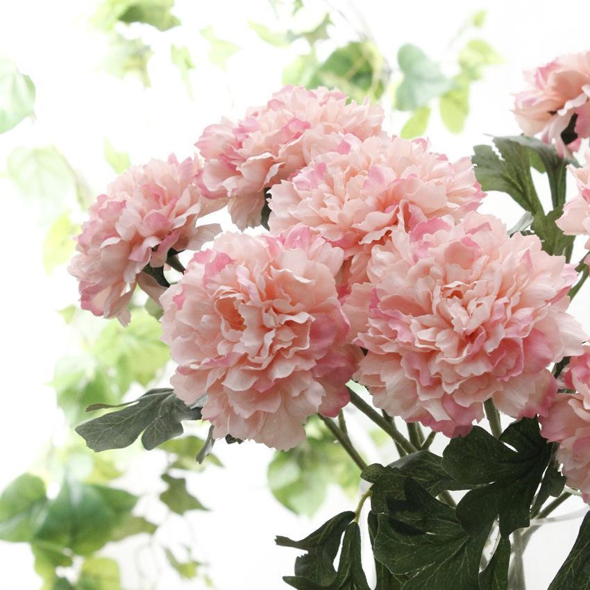 Künstliche Pfingstrose Blumen Kurze Niederlassung Flores Gefälschte Seidenblumen Für Herbst Herbst Home Party Garten Dekoration Kranz
