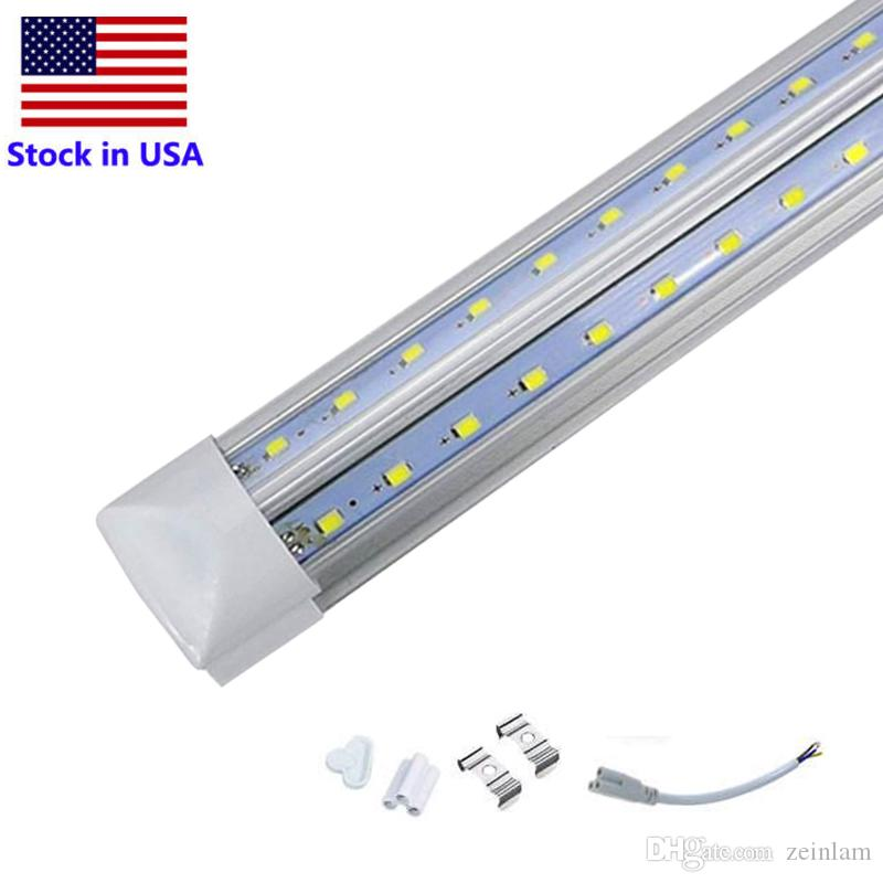 T8 Integrated Double row led tube 2ft 4ft 8ft 72w SMD2835 led tubes Light led lighting fluorescent best quality