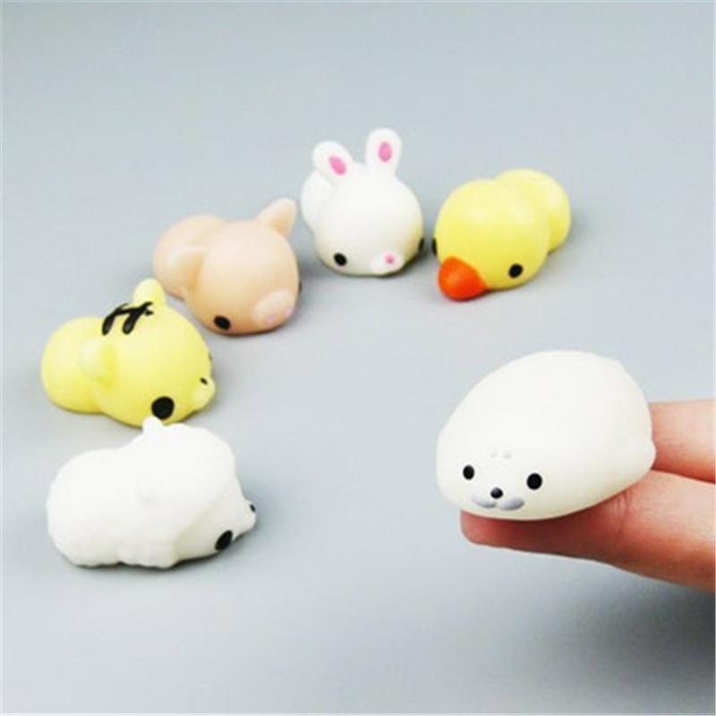 Vente en gros Nouveauté drôle Kawaii Antistress mignon Pet animaux Boulette Ours Panda Lapin Cochon Chat Totoro Pincez Antistress Vent Jouets