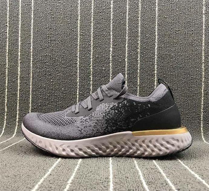 2020 Epic Epic Reaccional Fly Sport Knitting Sneaker Black Grey Green Red Azul Diseñador Dorado Transpirable Running Zapatilla Mejor Calidad