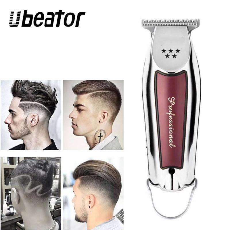 Máquina de corte de cabelo de tosquiador de cabelo elétrico para homens ferramentas de estilo profissional cortador portátil sem fio