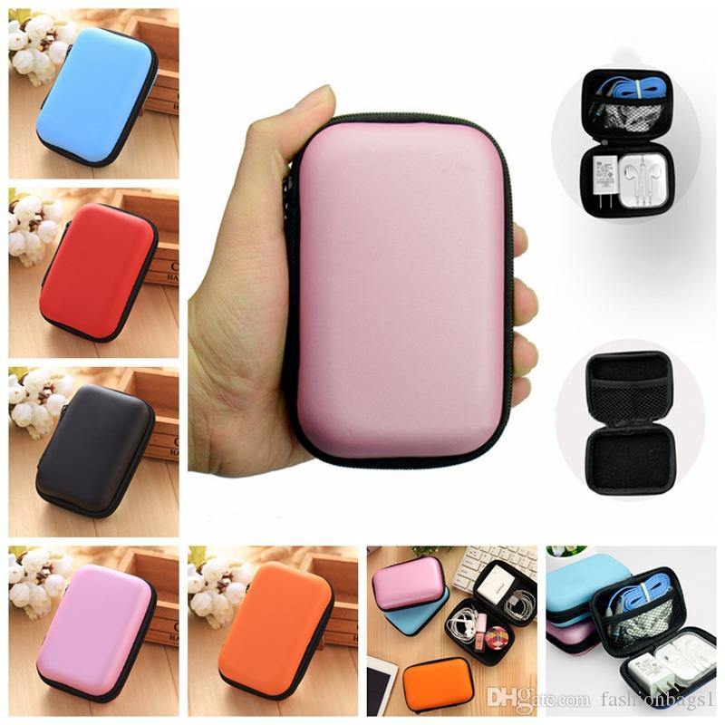 Cute Portable Data Cable Storage Bag Mobile Phone Line Headset Storage Box Finishing Package Change Zipper Bag Cheap 10pcs For Set