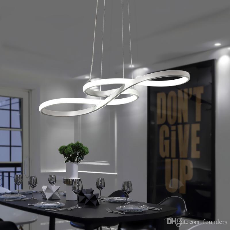 Minimalisme bricolage suspendu moderne LED Lampes suspendues extérieures pour salle à manger Pendentif lampe suspendu suspension luminaire Luminaire