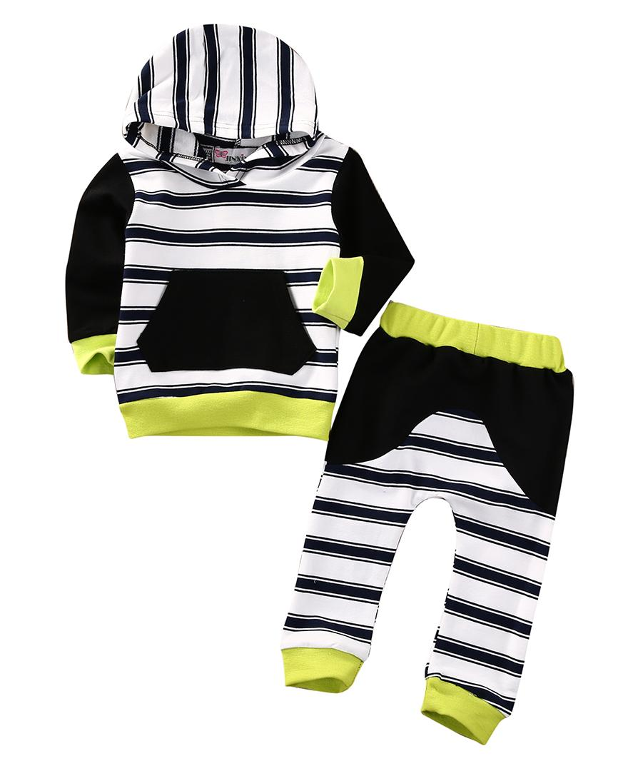 newborn toddlers baby clothing set 2PCS Kid Baby Boys Girls Leopard Pullover Hooded Coat + Pants Set Clothes Outfit