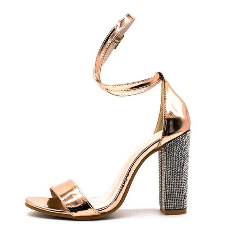 Vendita calda-Donne Strap Heeled pompe Super Tacchi alti 8 Heels CM Square Lady Shoes XDA5522