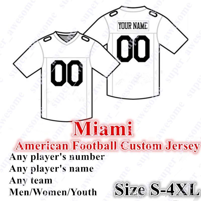 4xl Custom Miami Football Jersey Fitzpatrick 3 Rosen 11 Parker 18 Williams 88 Gesicki 17 Hurnos 55 Baker 96 Charlton 49 Eguavoen 13 Marino
