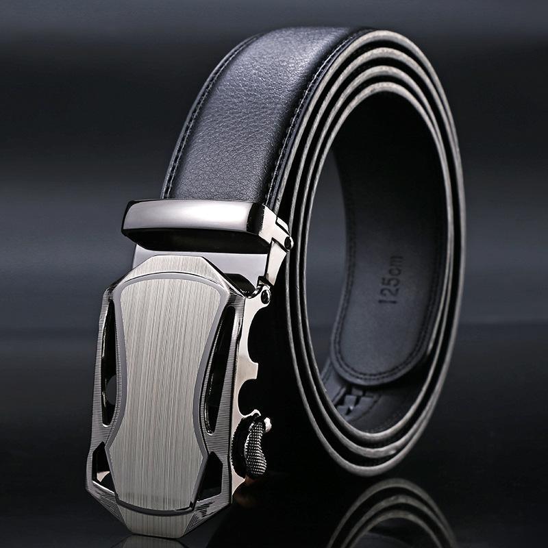 Belt automática negro Masculino Buckle cintos de couro novas dos homens de chegada moda Negócios cintura Strap Belt For Men