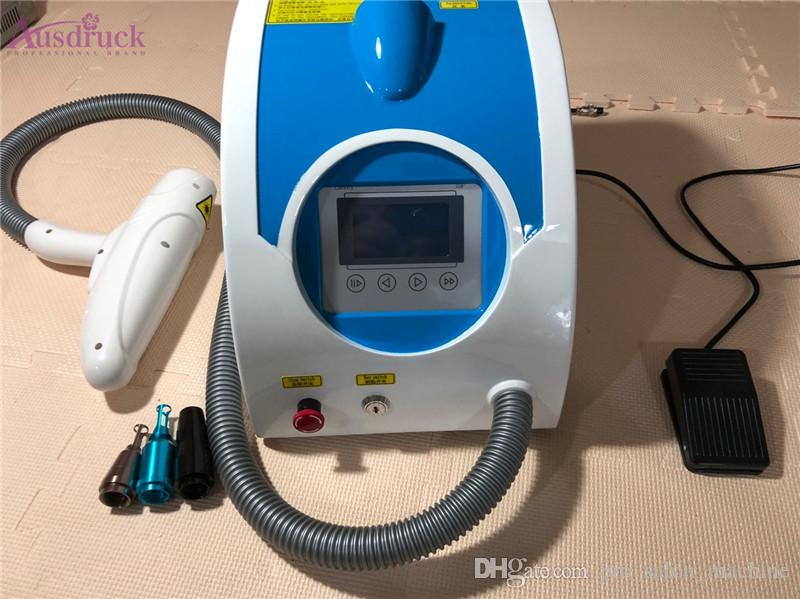 Mejor Calidad Q Interruptor ND YAG LASER Tattoo Máquinas de eliminación de cejas Eliminación de la pigmentación Dispositivo de belleza del cuidado de la piel