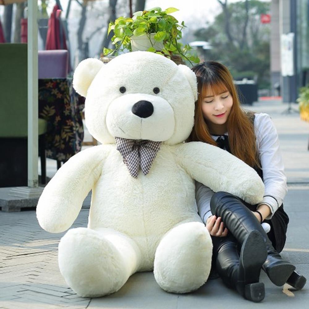 140CM bis 200CM billig Riese unstuffed leer Teddybär bearskin Fell weich große Hautschale Halbzeug Plüschtiere weiche Kind Puppe