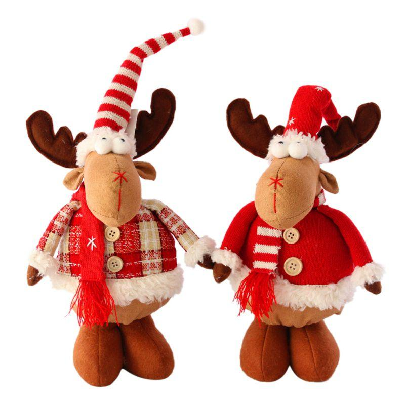 Regalos Inicio de Año Nuevo 2020 Feliz árbol de navidad adornos de muñeca de la historieta de Navidad Niños Elk partido Navidad de la muñeca por