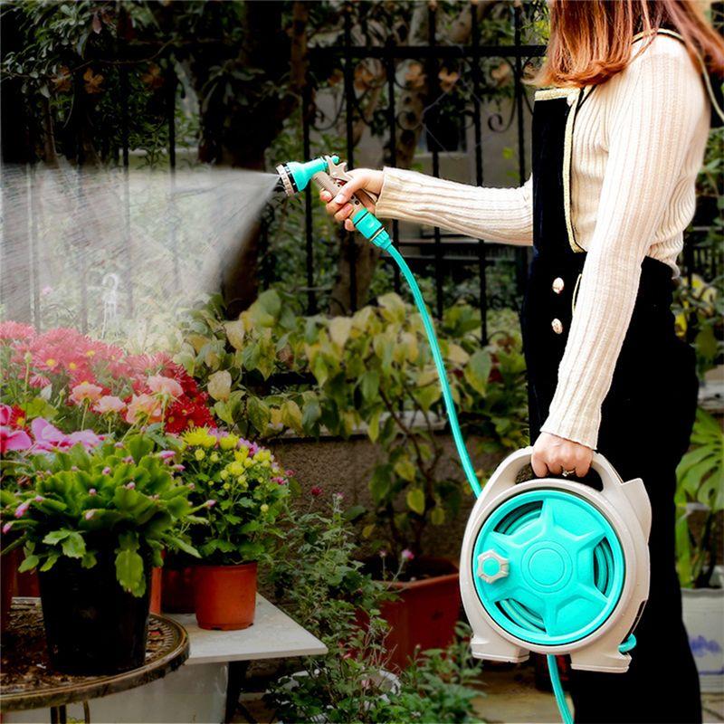Mini portatile da giardino avvolgitubo avvolgitubo multifunzione Testa da giardino Cortile da giardino Tubi portatili avvolgitubo Maniglioni per irrigazione