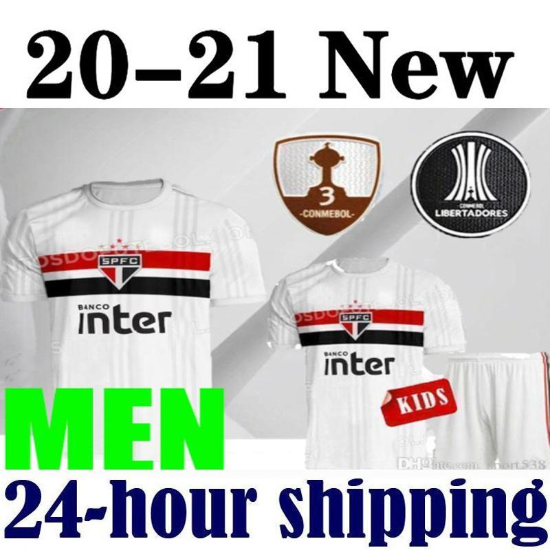 NEW 20 21 Sao Paulo Soccer Jerseys 2020 2021 Hernanes LIZIERO shirts DANI ALVES PATO Brazil Club Home white football shirt GOLEIRO Jersey