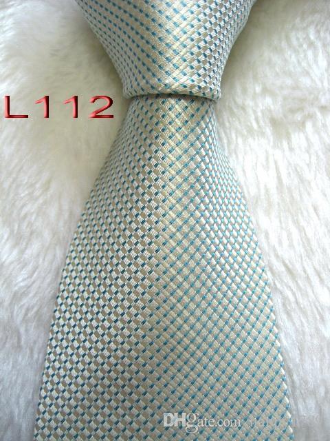 L112 # 100% Шелковый жаккардовый плетеный мужской галстук ручной работы