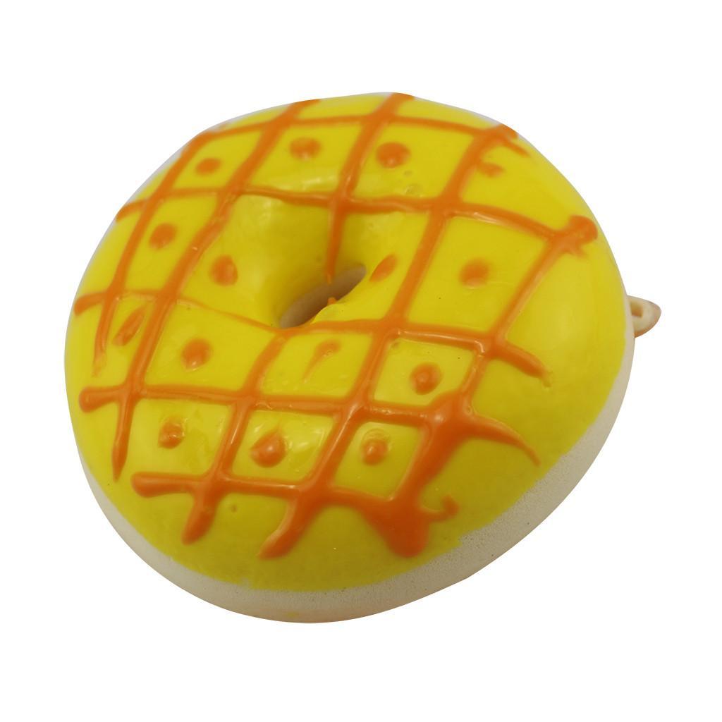 Los nuevos niños de descompresión del juguete Juego de simulación de donut fruta rebote lento llavero colgante mejor para el regalo # P3 niños
