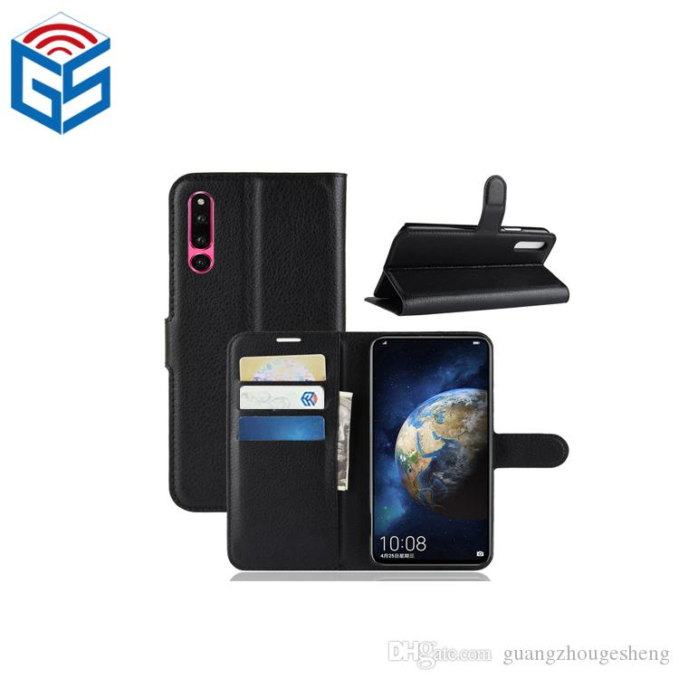 Huawei Honor Magic 2 프리미엄 PU 학습자 지갑 케이스 플립 커버 (카드 홀더 포함)