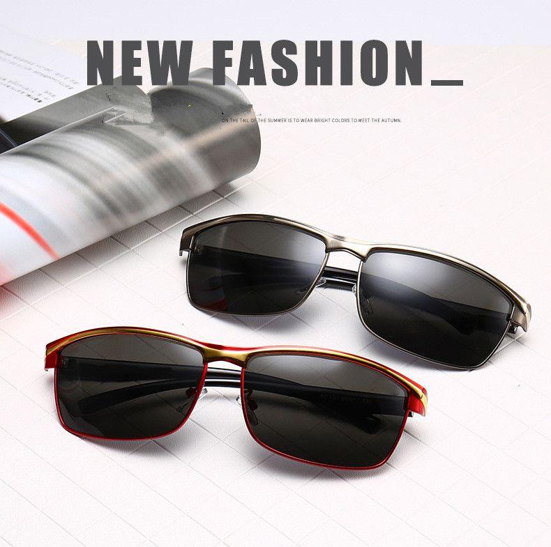 Polarized sunglasses for 2019 4S shop supplies men inside blue film polarizer Driving glasses Fashion trend sunglasses