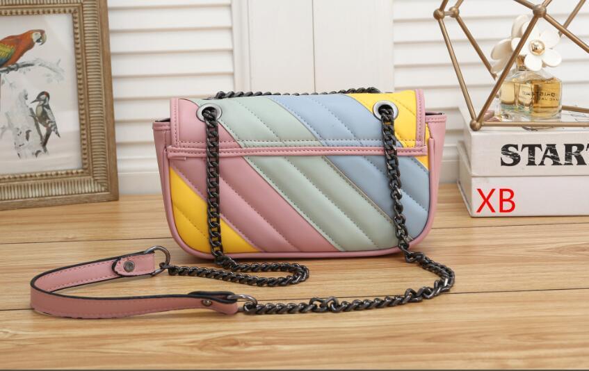 Qualitäts-neue Frauen-Handtaschen schwarz Kette Schultertasche Umhängetasche Soho Bag Messenger Bag Portemonnaie 5 Farben Größe: 23x8x14cm