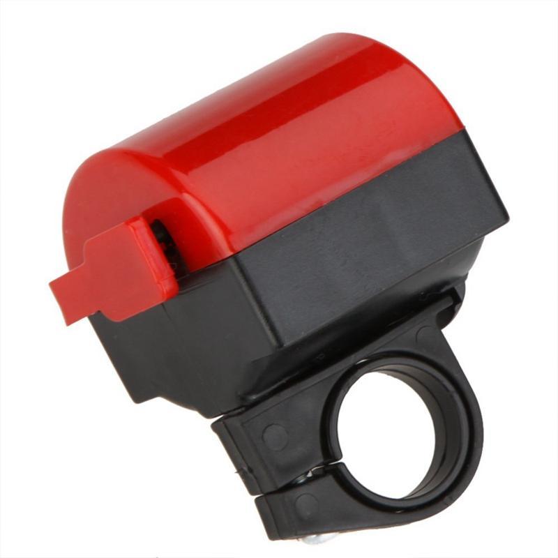 Велосипед аксессуар велосипед электронный колокол MTB дорожный велосипед громкий Рог Велоспорт Гудок Сирена вращение на 360 градусов красный