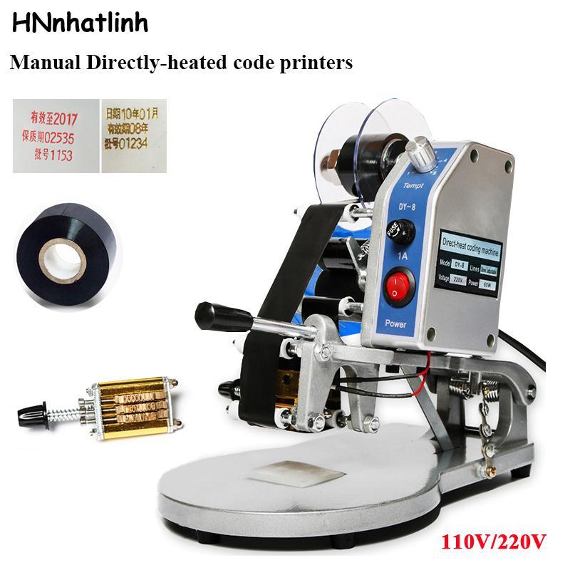 Frete grátis via DHL! DY-8 data codificação máquina de impressão manual de codificador de código de data de expiração, codificador de selo de folls quente, máquina de expiração