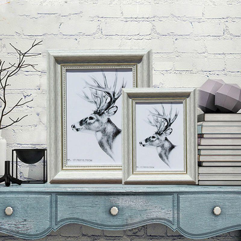 Рамка европейских ретро стены Фото Креатив Desktop Классической Photo Frame Настенный висячий младенец фотосалон Домашнего украшение