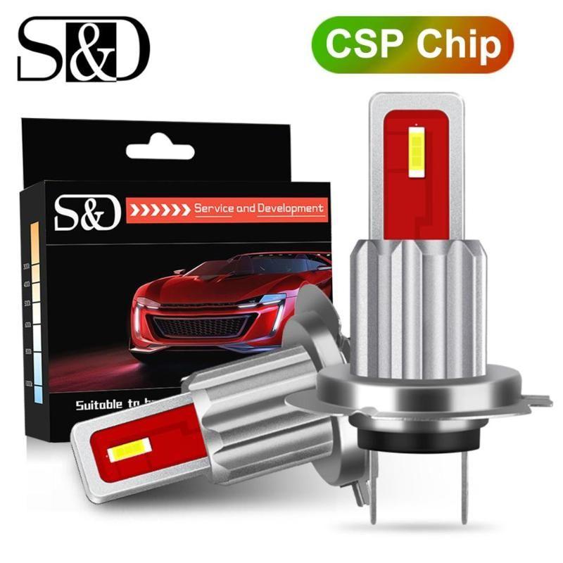 2pcs H7 Led Bulb Nevoeiro CSP chips 3000K 6000K 8000K 12V Branco Azul Âmbar Correndo Car Lamp Auto Luz 24V